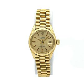 Ladies Rolex Datejust 18k Yellow Gold w/ Champagne Dial 6917