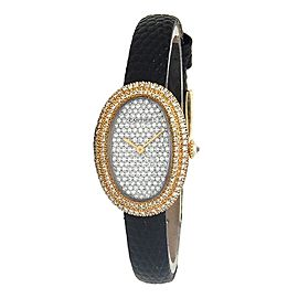Cartier Baignoire 18k Yellow Gold Quartz Ladies Watch