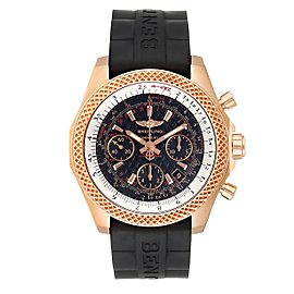 Breitling Bentley B06 Rose Gold Black Dial Mens Watch RB0612 Box Papers