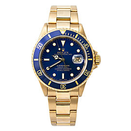 Rolex Submariner 16618 Gold 40mm Watch