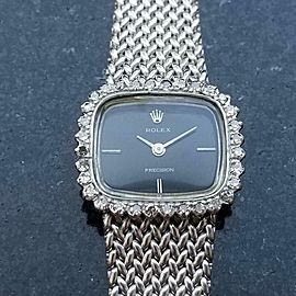 Rolex Ladies 18kt White Gold Precision Cocktail Dress Watch, c.1970s Swiss MA155