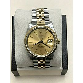 Rolex Date 15223 Champagne Dial 18K Yellow Gold & Stainless Steel
