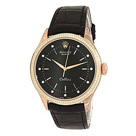 Rolex Cellini 50605 Gold 39mm Watch