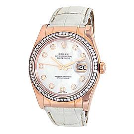 Rolex Datejust 116185 Gold 36mm Watch