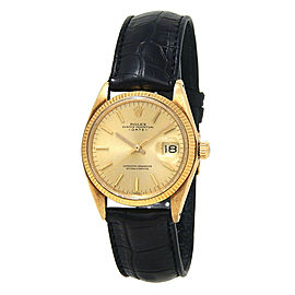 Rolex Date 1500 Gold 34mm Watch