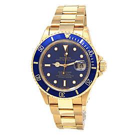 Rolex Submariner 16618 Gold 40mm Watch