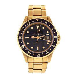 Rolex Gmt Master Ii 16718 Gold 40mm Watch