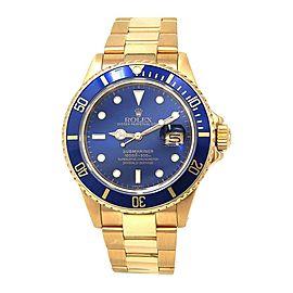 Rolex Submariner 16808 Gold 40mm Watch