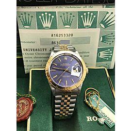 Rolex Datejust Thunderbird 16253 Blue Dial 18K Yellow Gold & Stainless Steel