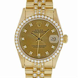 Rolex Datejust 68278 Gold 31.0mm Women Watch