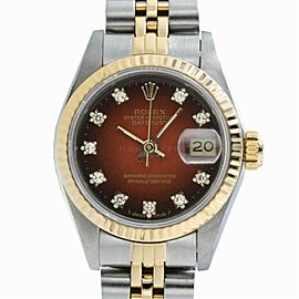 Rolex Datejust 69173 Gold 26.0mm Women Watch