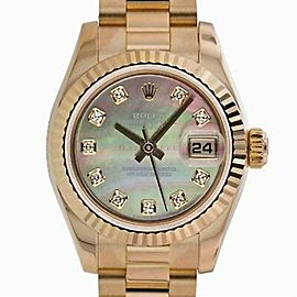 Rolex Datejust 179175 Gold 26.0mm Women Watch