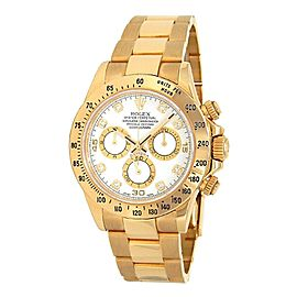 Rolex Daytona 18k Yellow Gold Diamond Dial Automatic Men's Watch 116528