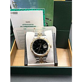 Rolex Datejust Thunderbird 16263 Black Dial 18K Yellow Gold & Stainless Steel