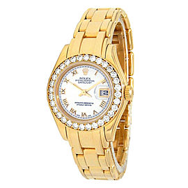 Rolex Pearlmaster 80298 Gold 29mm Womens Watch