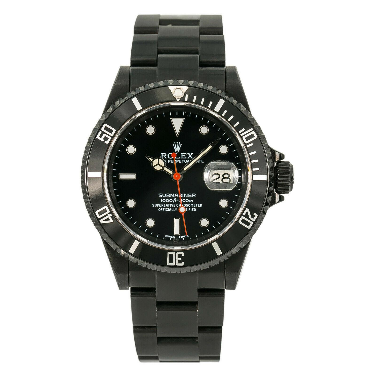 Rolex Submariner 16610 Pvd 40mm Watch