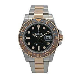 Men's Rolex Rolesor GMT-Master II 40 Watch w/ Black Dial 126711CHNR