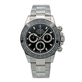 Men's Rolex Daytona Stainless Steel w/ Black Dial & Ceramic Cerachrom 116500LN