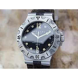Bvlgari SD 38 S L2382 Automatic Men's Stainless Steel Luxury Dress Watch Y121