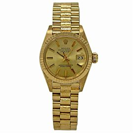 Rolex Datejust 6917 Gold 26.0mm Women Watch (Certified Authentic & Warranty)