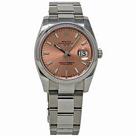 Rolex Date 115200 Steel 34.0mm Women Watch (Certified Authentic & Warranty)