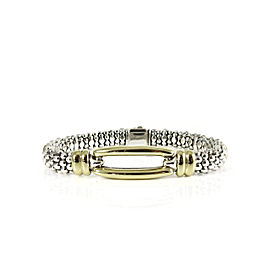 Lagos Sterling Silver 18K Yellow Gold 9mm Circle Game Two Bracelet