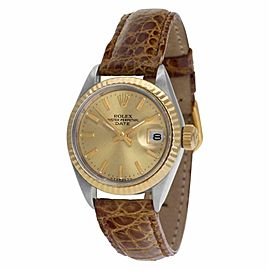 Rolex Date 6917 Steel 26.0mm Women Watch (Certified Authentic & Warranty)