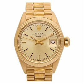 Rolex Date 6916 Gold 26.0mm Women Watch (Certified Authentic & Warranty)