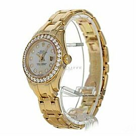 Rolex Pearlmaster 69298 Gold 29.0mm Women Watch (Certified Authentic & Warranty)