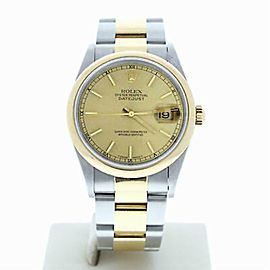 Rolex Datejust 16203 Steel 36.0mm Watch (Certified Authentic & Warranty)