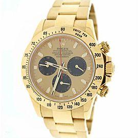 Rolex Daytona 116528 Gold 40.0mm Watch (Certified Authentic & Warranty)