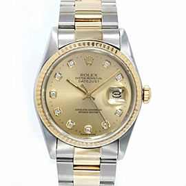 Rolex Datejust 16233 Two Tone 36.0mm Watch (Certified Authentic & Warranty)