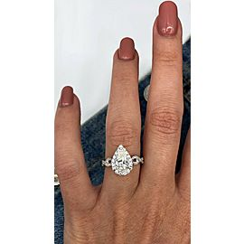 Perfect 18k White Gold Engagement Diamond Ring with 1.43ct.