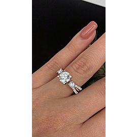 18k White Gold Engagement Ring with 1.75ct. Diamonds