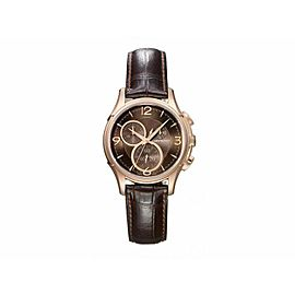 BRAND NEW HAMILTON MENS JAZZMASTER H32342595 QUARTZ CHRONOGRAPH ROSE GOLD WATCH