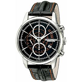 NEW HAMILTON AMERICAN CLASSIC RAILROAD H40656731 AUTO CHRONO MENS TIMELESS WATCH