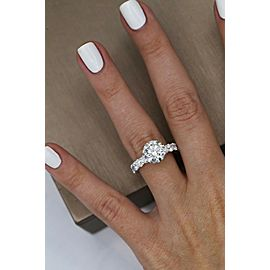 Precious 14k White Gold Engagement Ring w/ 5.52ct. Diamonds