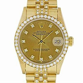 Rolex Datejust 68278 Gold 31.0mm Women's Watch