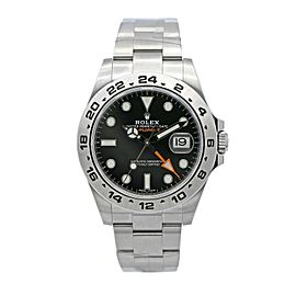 Mens Rolex Explorer II Stainless Steel w/ Black Dial 216570