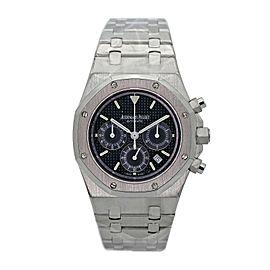Mens' Audemars Piguet Royal Oak Steel Chronograph w/ Guilloche Blue Dial 25860ST