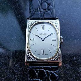 ROLEX Men's 18k Gold & SS Art Deco Manual Dress Watch c1930s Swiss Vintage LV824