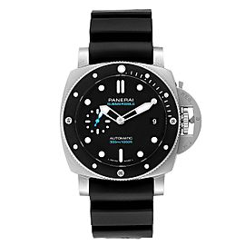Panerai Luminor Submersible 42mm Black Rubber Strap Mens Watch PAM00683
