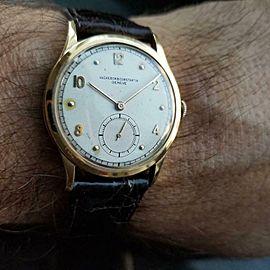 VACHERON CONSTANTIN Men's 18k Gold Geneve Hand-Wind c.1950s Swiss Vintage LV959