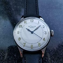 LECOULTRE Men's cal.12A Manual Hand-Wind Field Watch c.1950s Swiss Vintage LV834