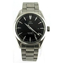 OMEGA SEAMASTER 2517.50 AQUA TERRA BLACK SWISS QUARTZ STEEL MENS LUXURY WATCH
