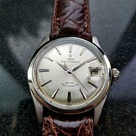 "TUDOR Men's Prince Oysterdate 7966 ""Small Rose"" Automatic c.1950s Swiss MS119BRN"