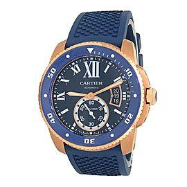 Cartier Calibre de Cartier Diver 18k Rose Gold Men's Watch Automatic WGCA0010