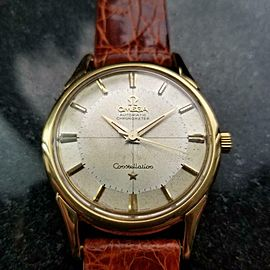 OMEGA Men's 18k Solid Gold Constellation Automatic, c.1960s Swiss Vintage LV669