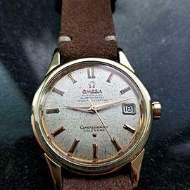 OMEGA Men's Constellation Calendar Gold-Capped Automatic c1950s Vintage LV651TAN