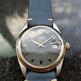 TUDOR Men's 14k Gold & SS Prince Oysterdate ref.7990 Automatic c.1960s LV830BLU